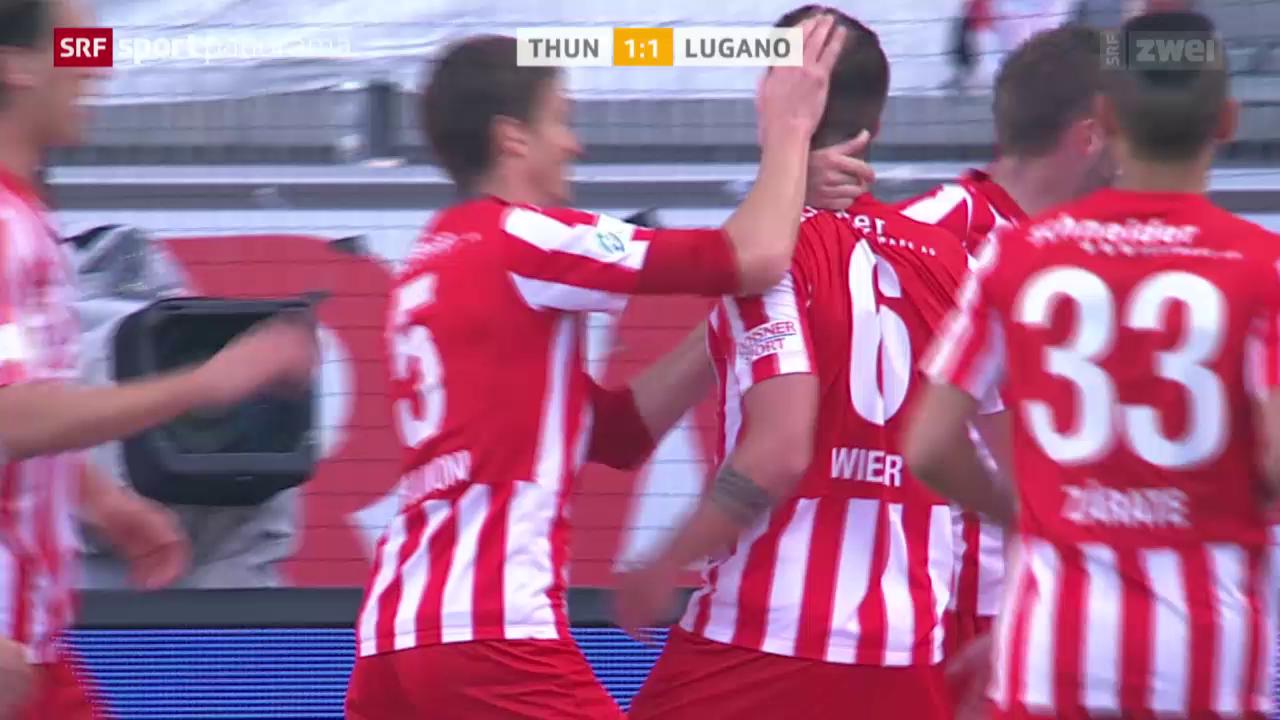 Fussball: Thun - Lugano