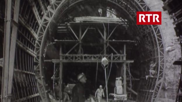 Laschar ir video «Las lavurs per il tunnel (Filmwochenschau, 30.11.1962)»