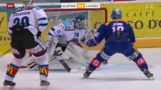 Video «Eishockey: NLA, Kloten - Lakers» abspielen