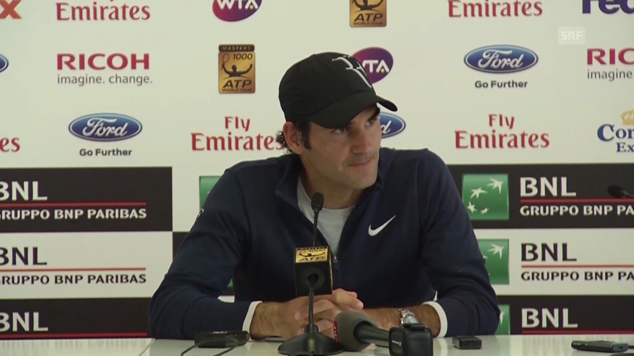 Tennis: ATP-1000 Rom, Federer nach seiner 2.-Runden-Niederlage gegen Jeremy Chardy
