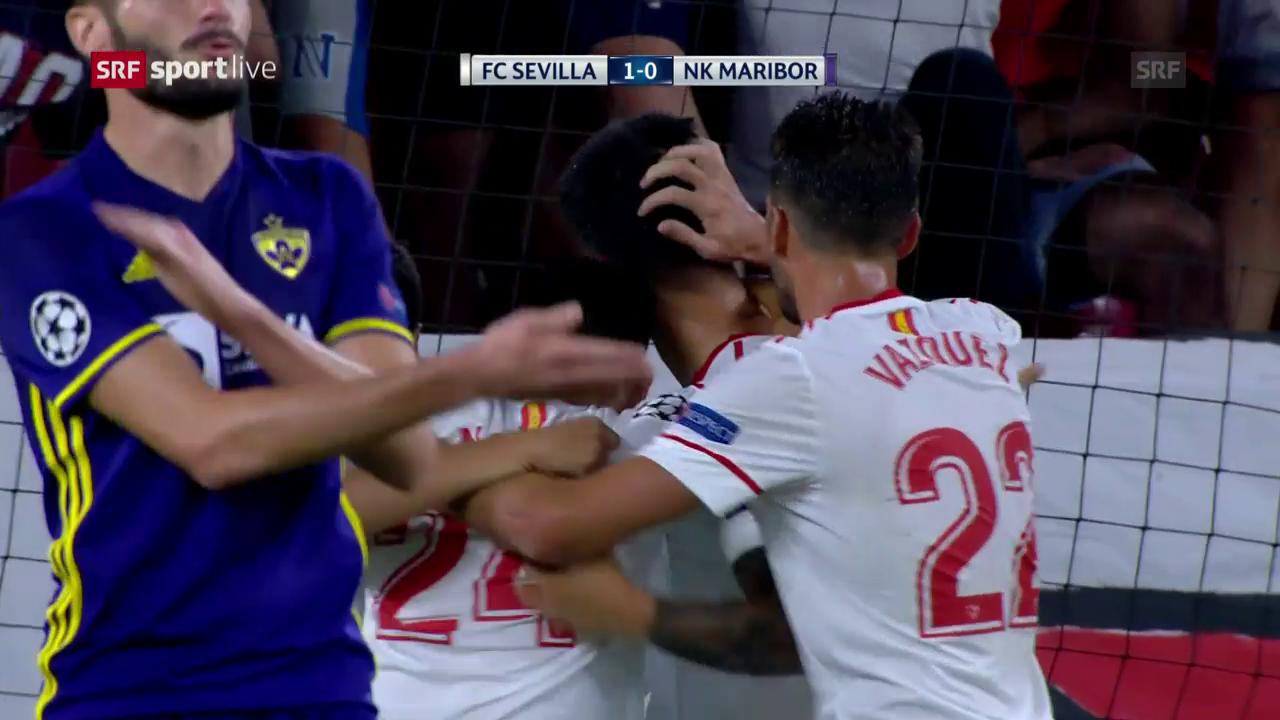 Sevilla siegt dank Hattrick von Wissam Ben Yedder