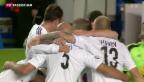 Video «FCB-Spieler glücklich über ihren Sieg gegen Chelsea» abspielen