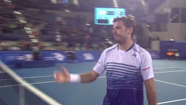 Video «Tennis: Exhibition Abu Dhabi, Wawrinka-Almagro» abspielen
