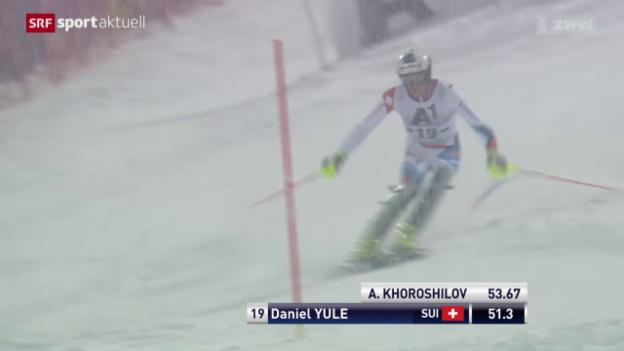 Video «Ski Alpin: Slalom Männer in Schladming» abspielen