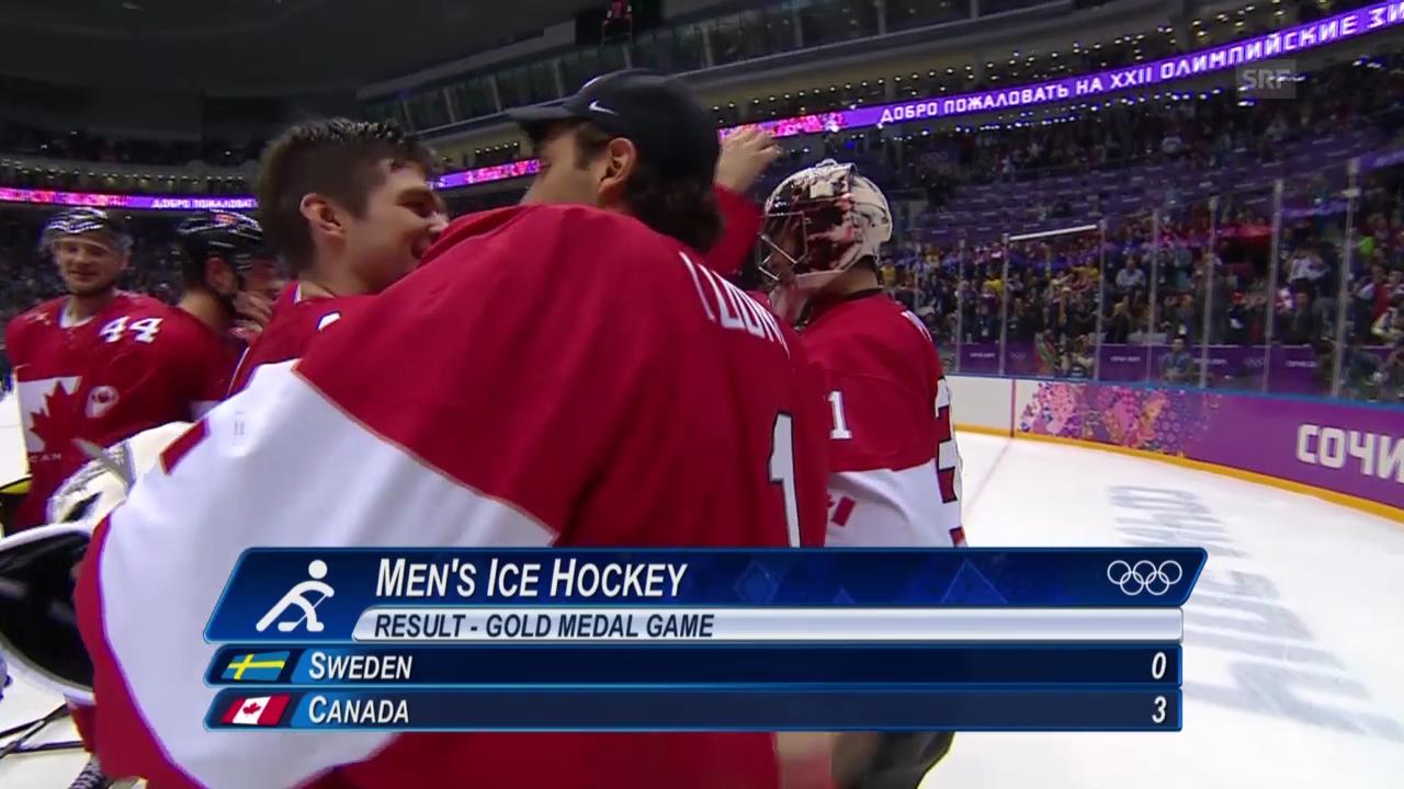 Sotschi: Eishockey, Final, Kanada - Schweden