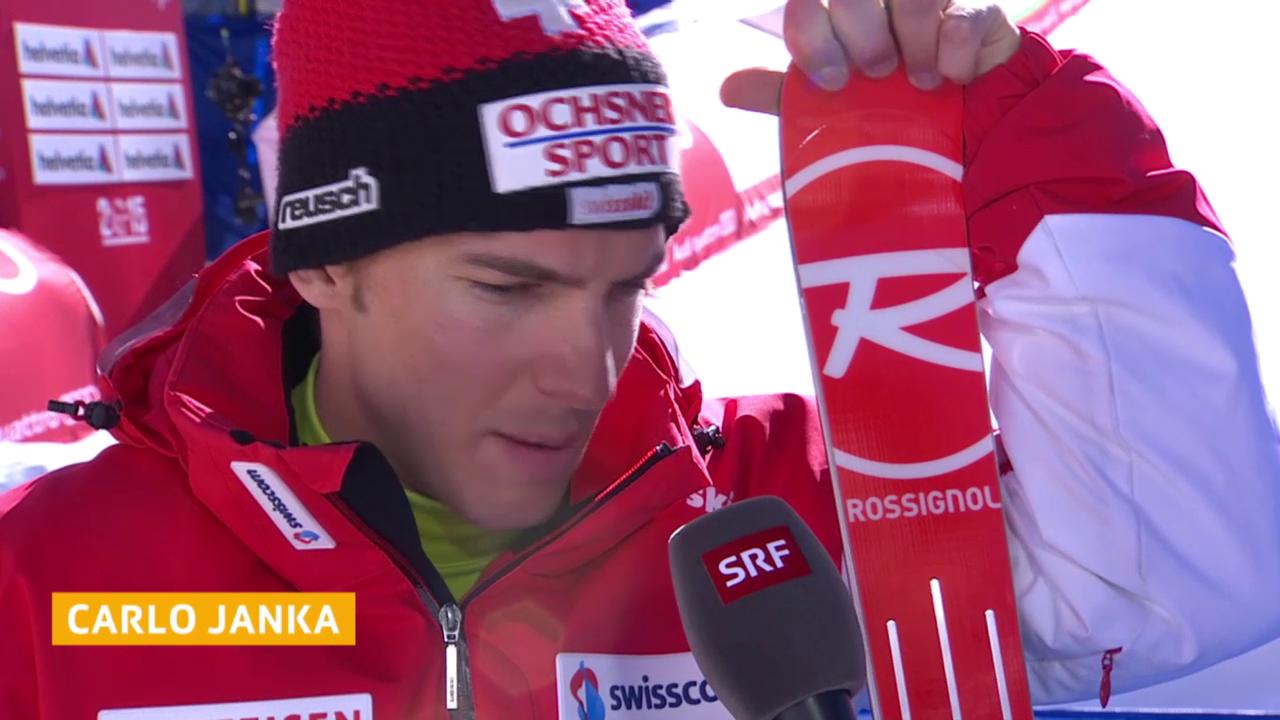 Ski alpin: WM 2015 in Vail/Beaver Creek, Männer-Riesenslalom, Carlo Janka im Interview