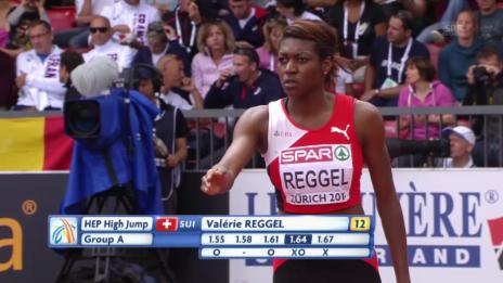 Video «Siebenkampf: Reggel überspringt 1,70 m» abspielen