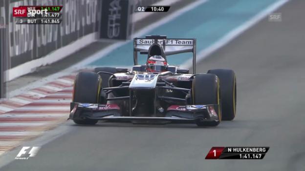 Video «F1: Hülkenberg auch im Qualifying stark» abspielen