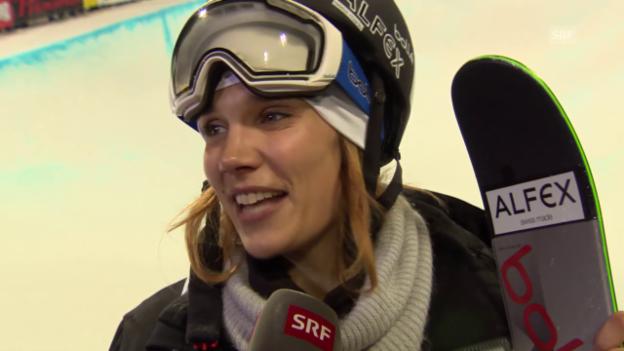 Video «Freestyle-WM: Interview mit Mirjam Jäger» abspielen