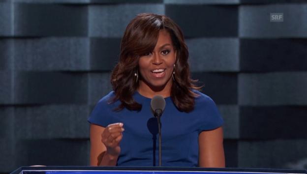 Video «Michelle Obamas Wahlaufruf für Hillary Clinton» abspielen