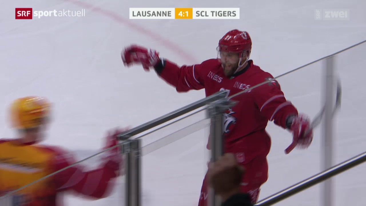 Eishockey: NLA, Lausanne - SCL Tigers
