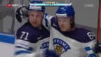 Video «Finnland schlägt im Nord-Derby Dänemark» abspielen