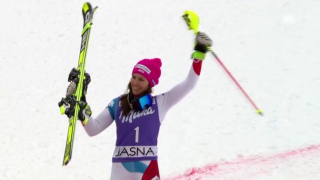 Video «Ein Slalom voller Geschichten in Jasna» abspielen