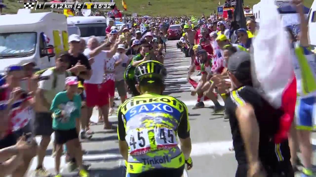 Rad: Tour de France, 11. Etappe, Bergpreis Col du Tourmalet