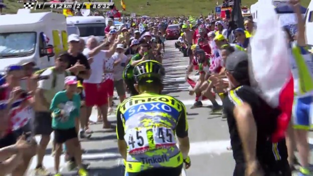 Video «Rad: Tour de France, 11. Etappe, Bergpreis Col du Tourmalet» abspielen