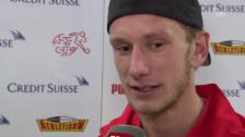 Video «Fussball: Fabian Lustenberger über sein Debüt in der A-Nationalmannschaft» abspielen