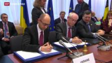 Video «EU-Gipfel ganz im Zeichen der Krim-Krise» abspielen
