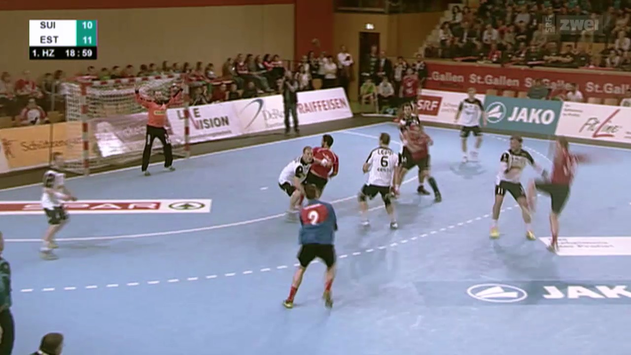 Handball: Barrage-Rückspiel Schweiz - Estland