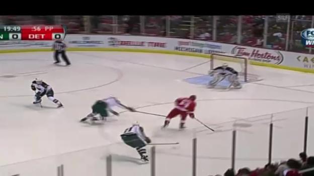 Video «Damien Brunners Treffer zum 1:0.» abspielen