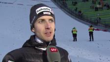 Video «Skispringen: Vierschanzentournee, 3. Springen in Innsbruck, Interview mit Simon Ammann» abspielen