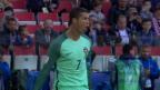 Video «Portugal schlägt Russland dank Ronaldo» abspielen