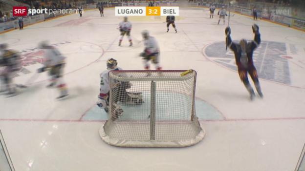 Video «Lugano mit zweitem Sieg gegen Biel innert 24 Stunden» abspielen