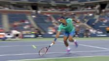 Video «Tennis: Federers Geschwindigkeit an den US Open 2014» abspielen