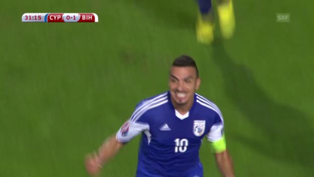 Video «Fussball: EURO-Qualifikation 2016, Zypern - Bosnien-Herzegowina» abspielen