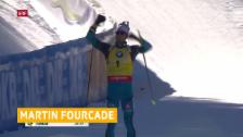 Video «Fourcade gewinnt – Weger auf Rang 17» abspielen