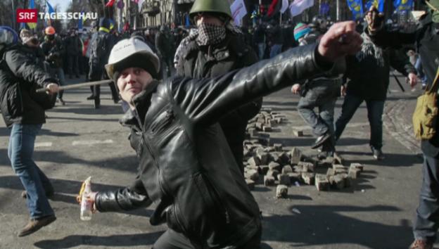 Video «Unterschiedliche Ansichten in der Ukraine» abspielen