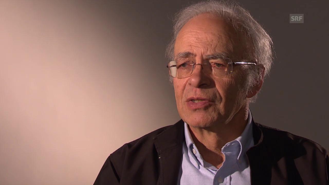 Peter Singer erklärt sein Gedankenexperiment «Kind im Teich»
