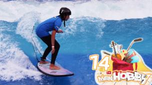 Video «Surferin Eleni will hohe Wellen reiten» abspielen