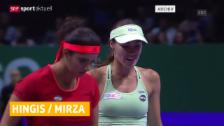 Video «Tennis: Hingis/Mirza siegen weiter - auch in Sydney» abspielen