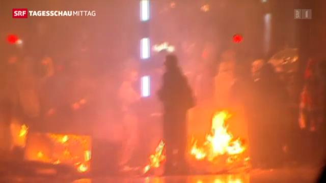 «Tagesschau» 8.1.: Weitere Unruhen in Belfast.