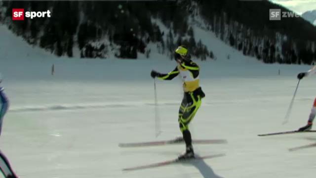 Seraina Boner wird 2. am Engadiner Skimarathon