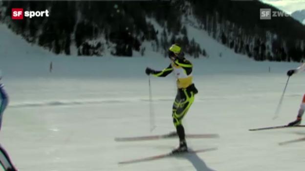 Video «Seraina Boner wird 2. am Engadiner Skimarathon» abspielen
