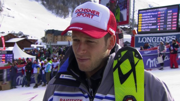 Video «Ski: Gini nach dem Slalom in Val d'Isere im Interview» abspielen