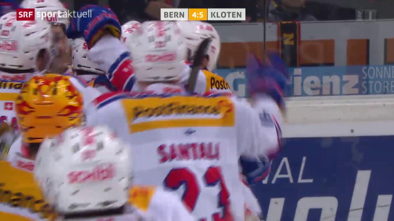 Eishockey: Bern - Kloten Flyers