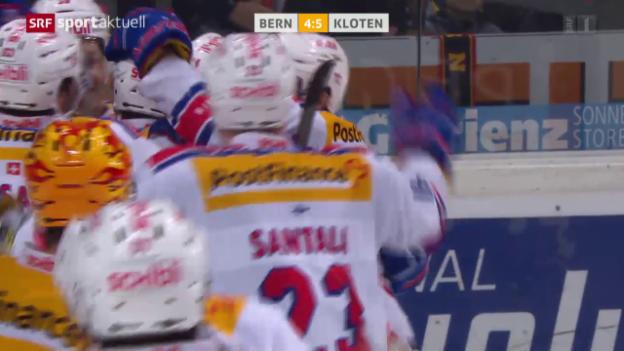 Video «Eishockey: Bern - Kloten Flyers» abspielen