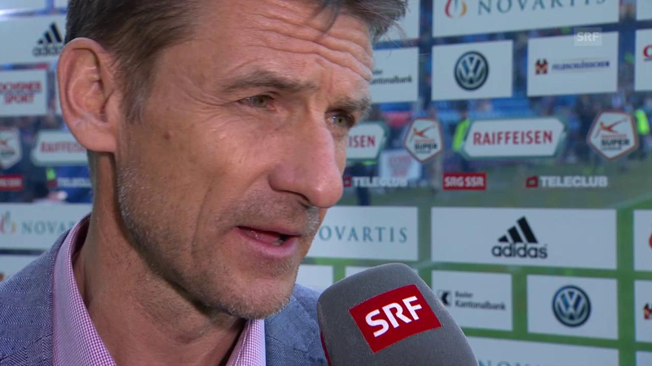 Fussball: Super League, Basel - Zürich, Interview mit Urs Meier