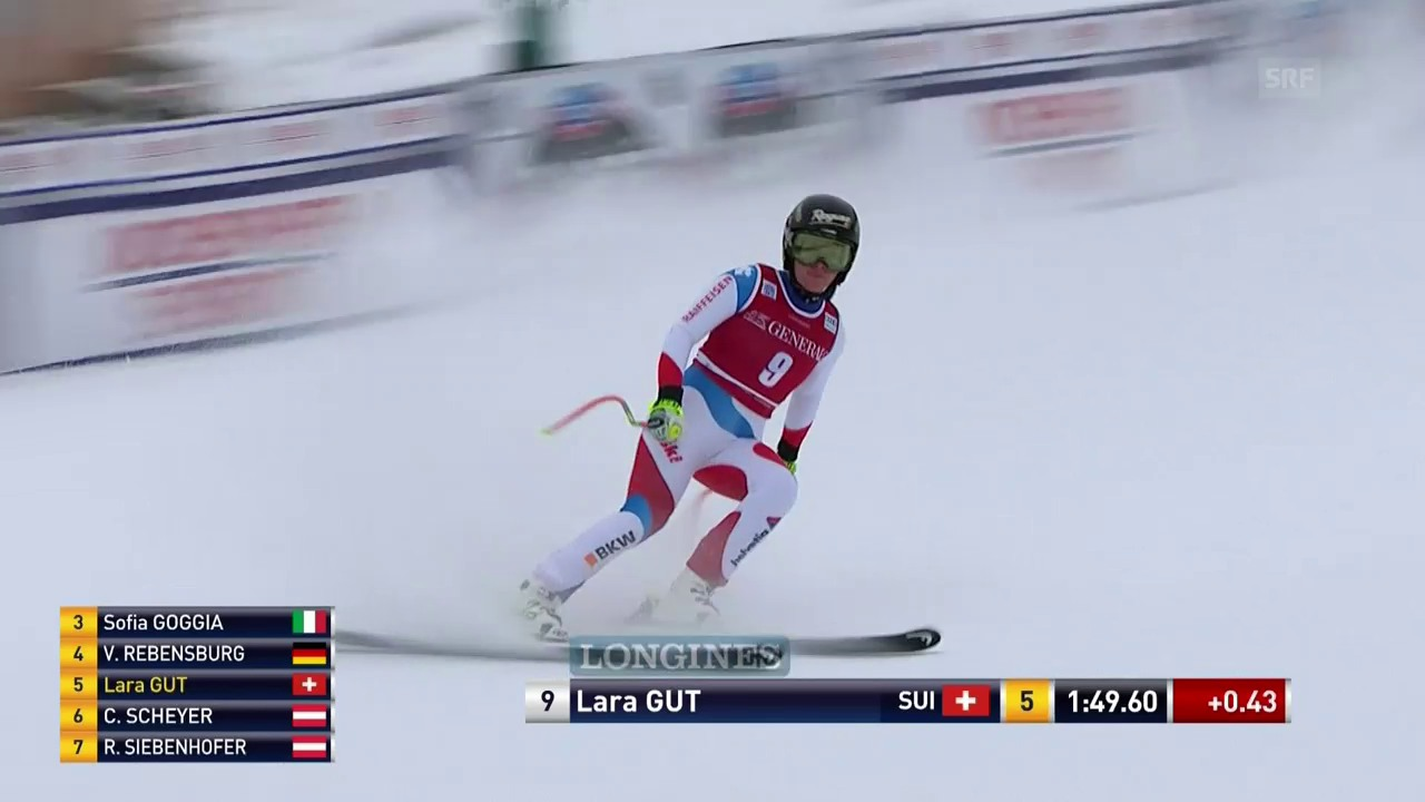 Lara Gut fährt bei Speed-Comeback auf den 9. Rang