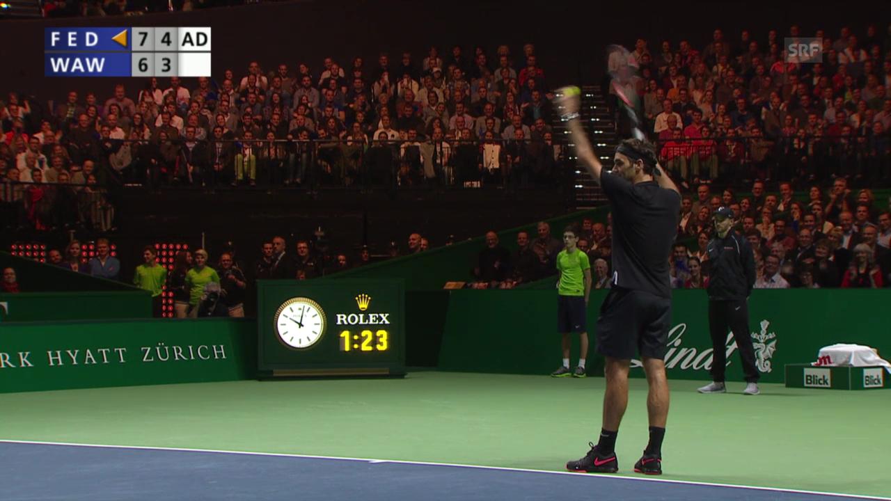 Tennis: MfA, Federer animiert Zuschauer