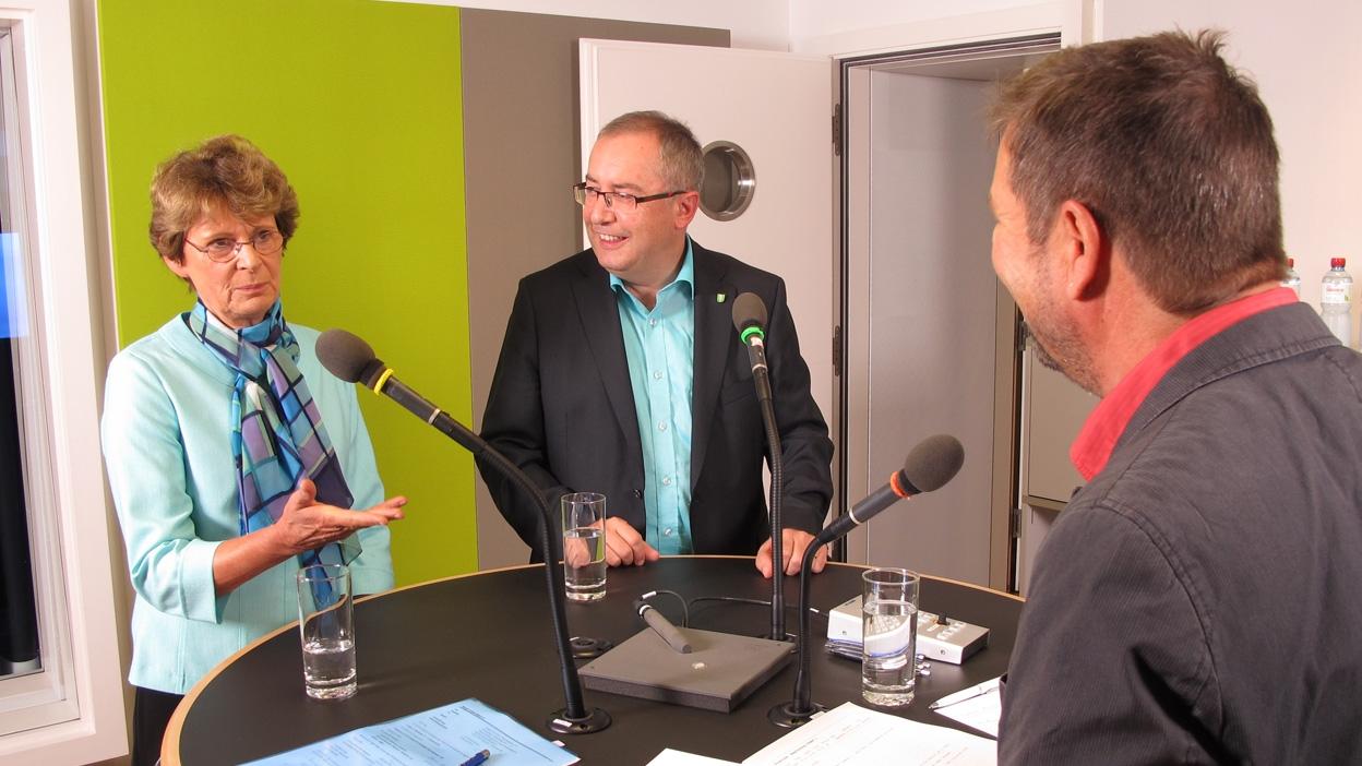 Thomas Ammann CVP und Margrit Kessler GLP live im Studio (11.09.2015)