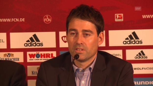 Video «Fussball: Rene Weiler bei seinem Amtsantritt in Nürnberg» abspielen