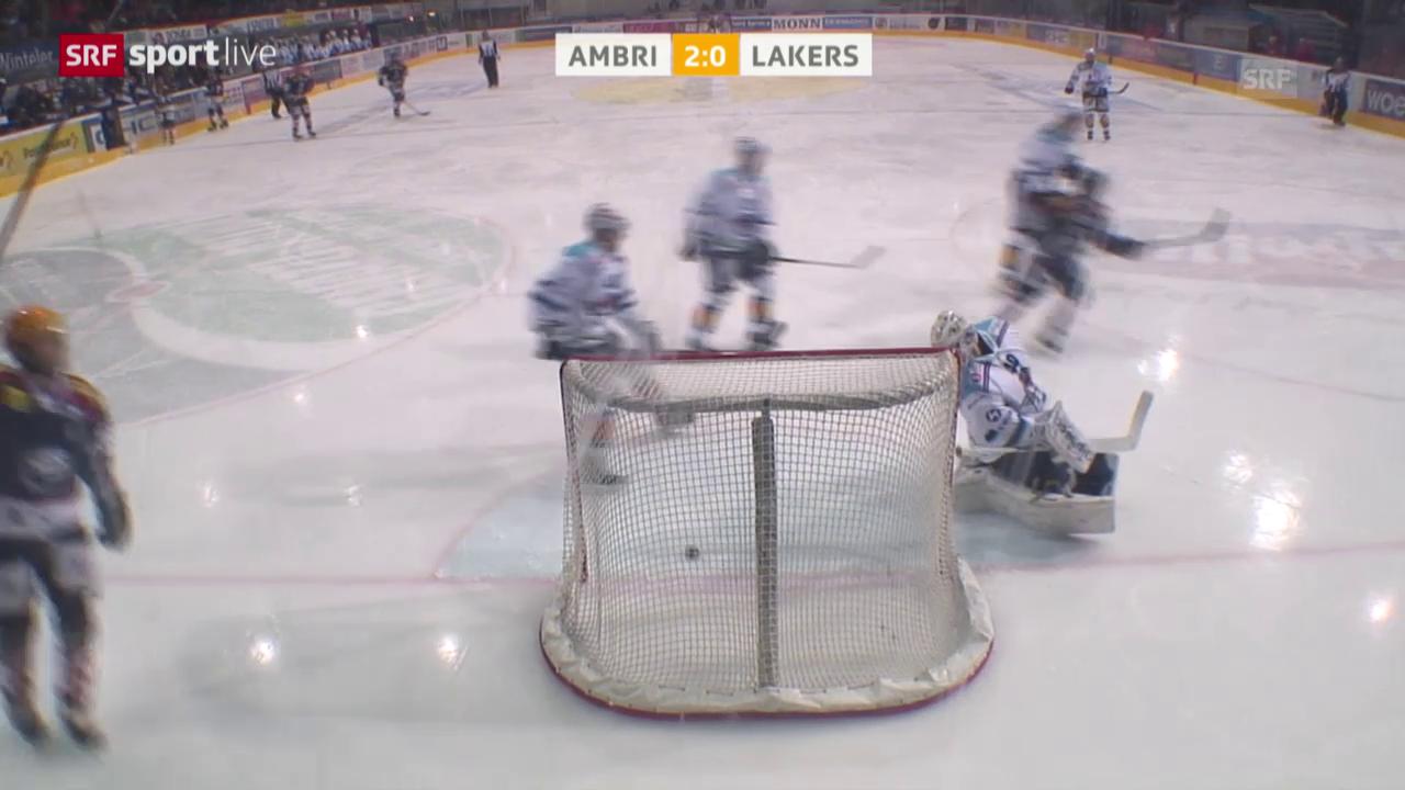 Eishockey: NLA, Platzierungsrunde, Ambri - Lakers