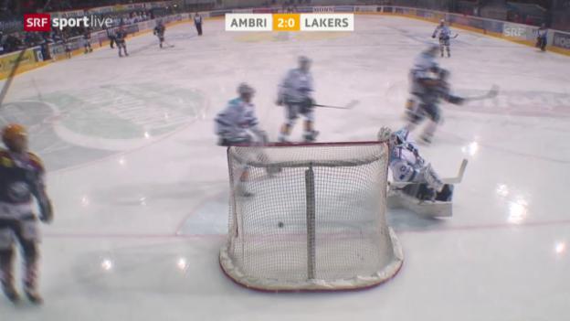 Video «Eishockey: NLA, Platzierungsrunde, Ambri - Lakers» abspielen