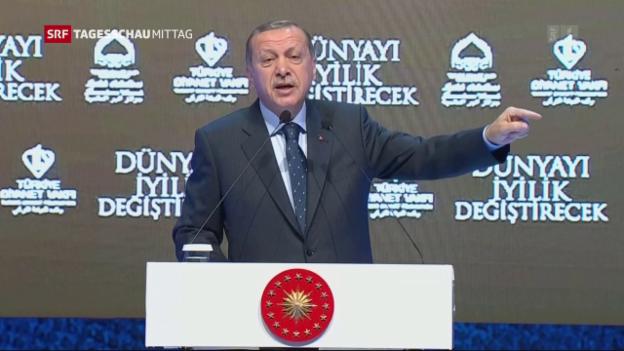 Video «Erdogan fordert Sanktionen gegen Niederlande» abspielen