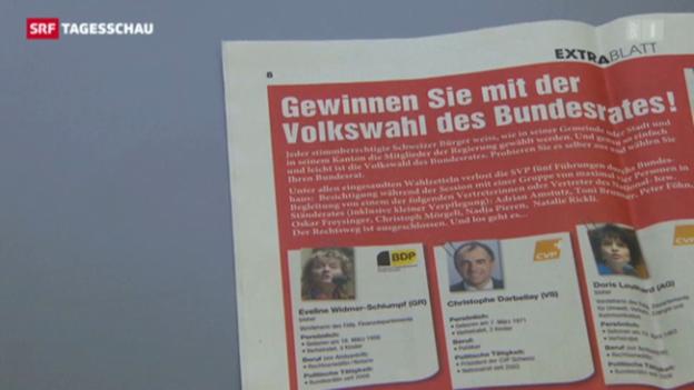 Video «Wenig Zustimmung im Volk für «Volkswahl des Bundesrates» abspielen