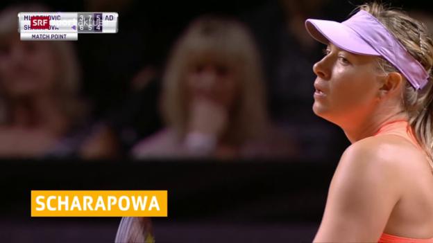 Video «Scharapowas Comeback im Halbfinal gestoppt» abspielen