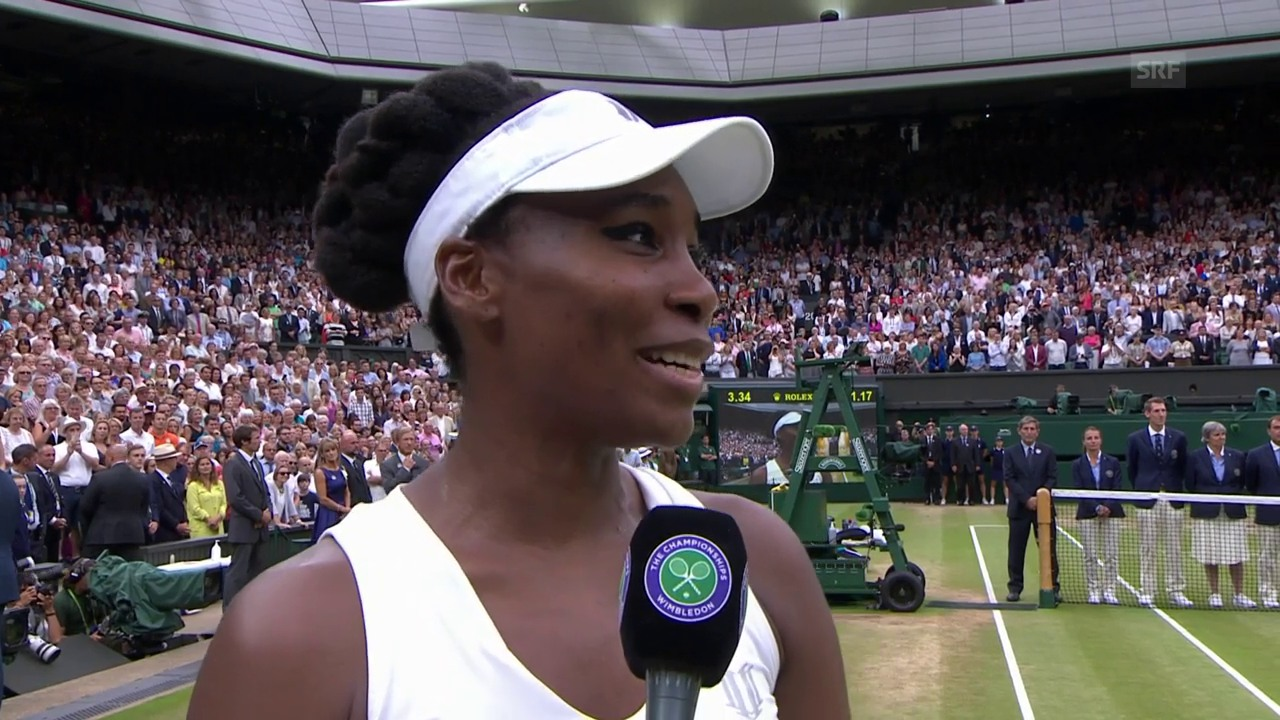 Venus Williams im Interview nach der Final-Niederlage (engl.)